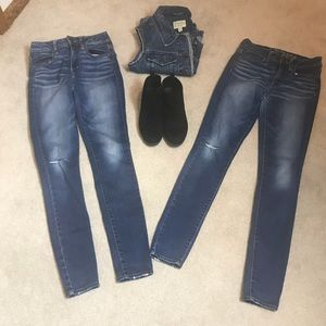 Two Pair American Eagle Outfitters Stretch Jegging